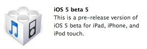 iOS 5 beta 5 for developers