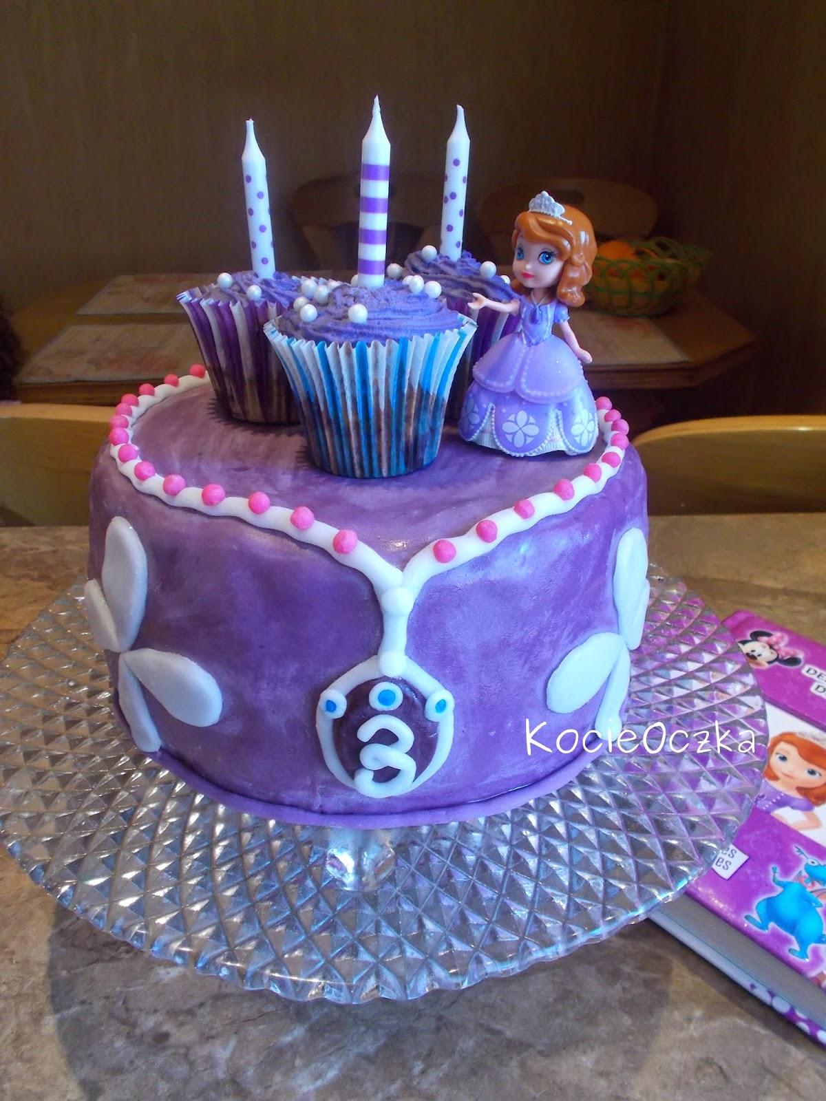 Kocie Oczka Sofia The First Urodzinowy Tort Księżniczki Zosi