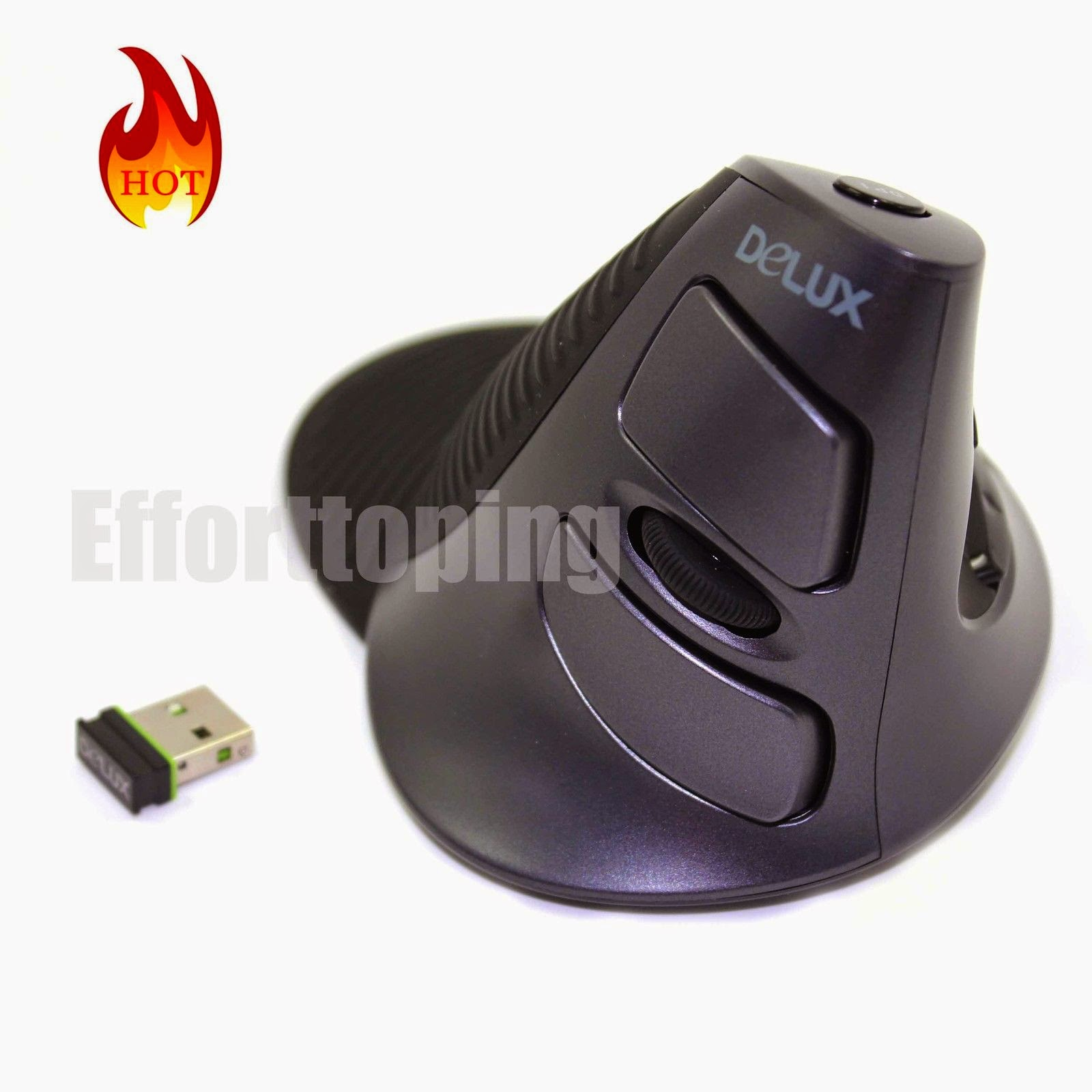 New Genuine Delux wireless 2.4Ghz M618 ergonomic vertical gaming Mouse laptop EF
