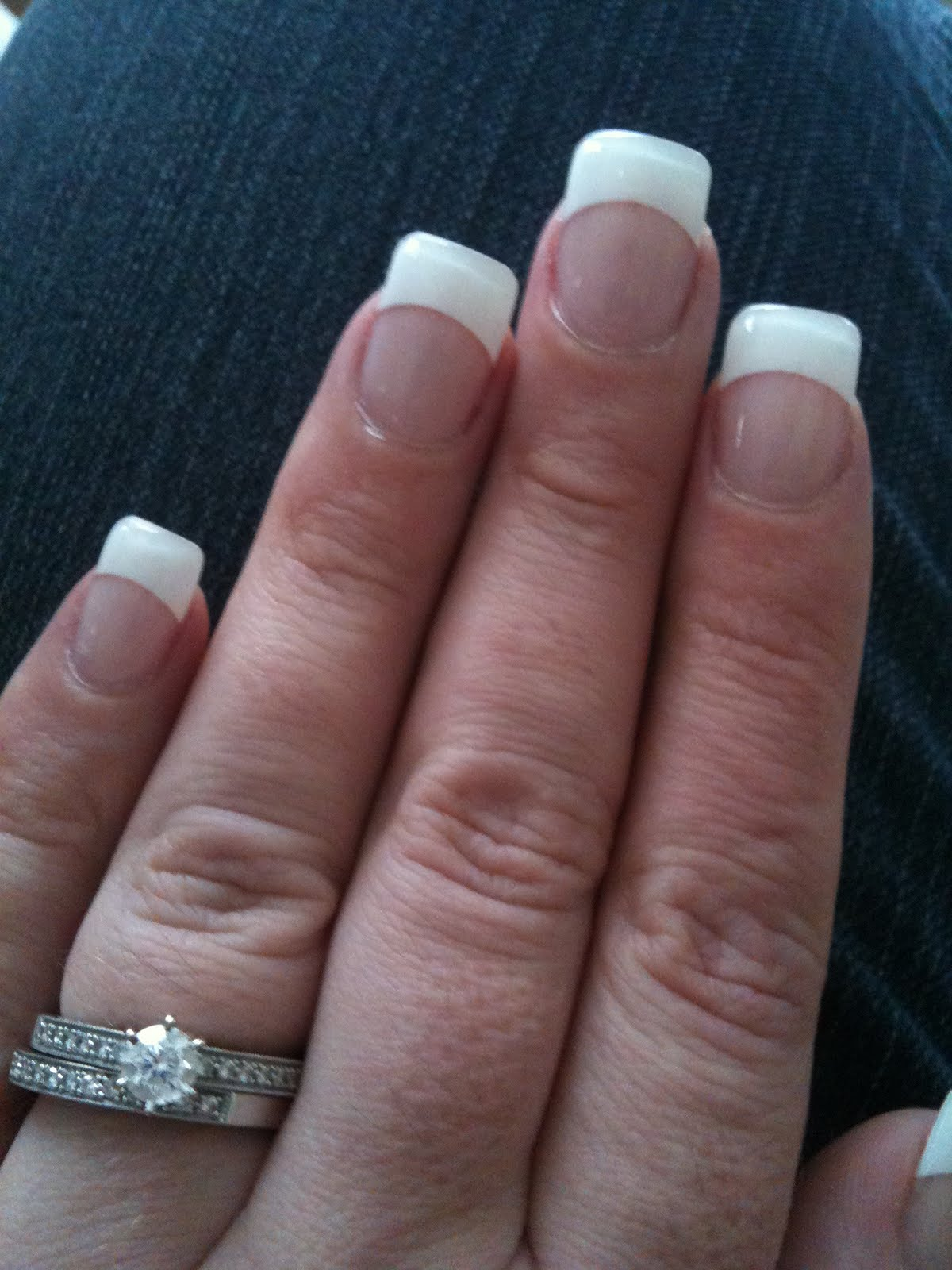 mssparklearkle french manicure with gel nails. Black Bedroom Furniture Sets. Home Design Ideas