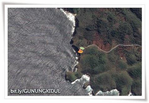 peta lokasi pantai kesirat Gunungkidul