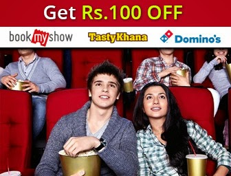 Get Rs.100 OFF on Online Purchases on Bookmyshow, Tastykhana, Dominos and MORE from PayUMoney