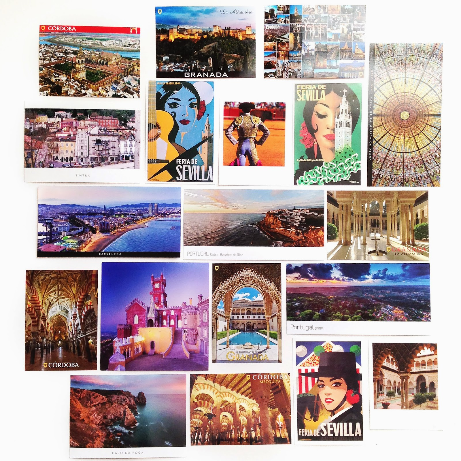 Portugal and Spain postcards