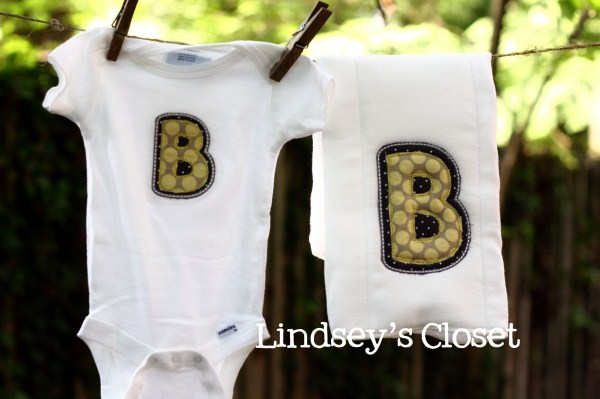 Lindsey's Closet: New Baby Stuff | Memphis Monogramming & Applique