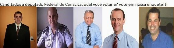 Destes 5 candidatos a deputado federal por Cariacica em qual você votaria?