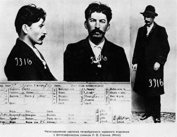 Ο φάκελος που διατηρούσε η τσαρική αστυνομία για τον Στάλιν, με φωτογραφίες από τις αρχές της δεύτερης δεκαετίας του περασμένου αιώνα.