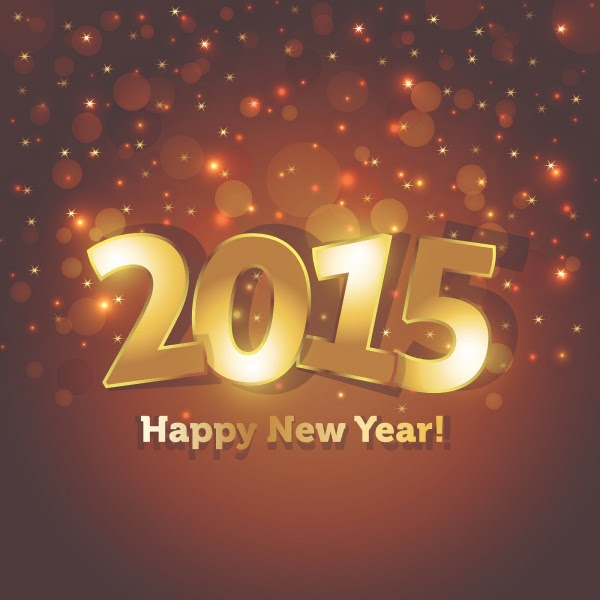 Happy New Year 2015 Wishing Cards - Free Downloads