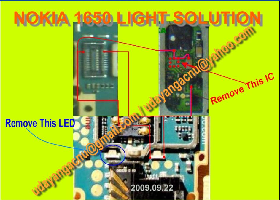 Mobile Diagram With Repairing Hardware  Nokia 1650 Light