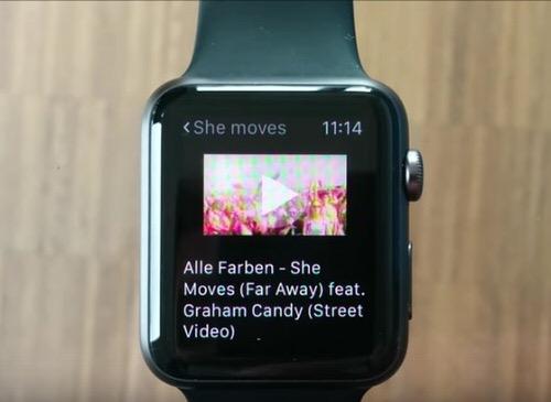 Apple WatchでYouTubeを再生するアプリ
