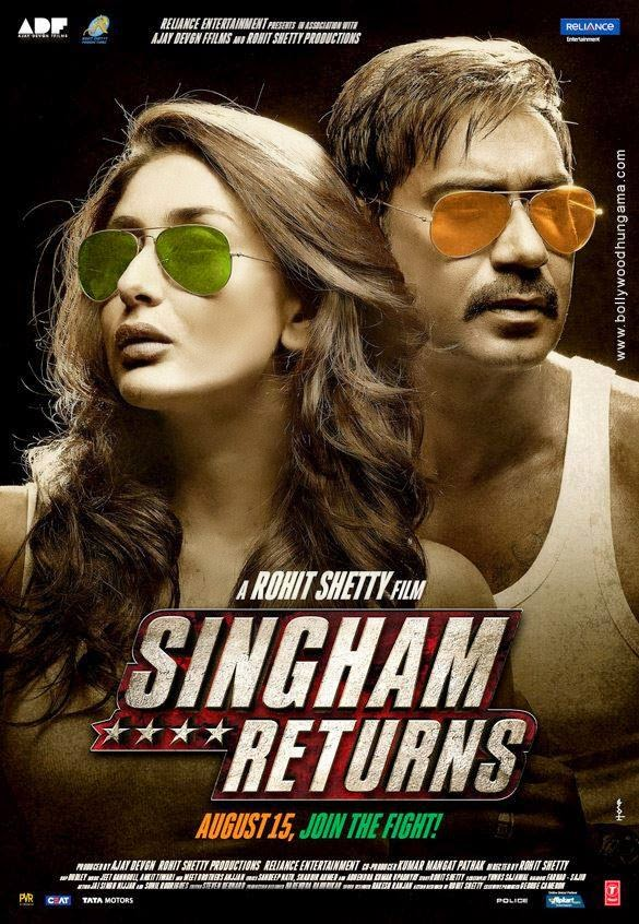 Singham Returns 2014 Hindi 720p BluRay 1.2GB