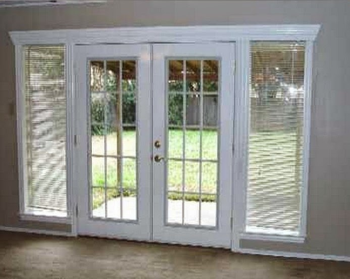 Patio doors with side windows doors exterior doors for Patio doors with side panels