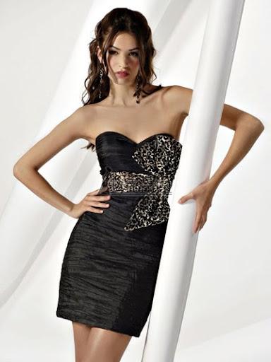 секси черна рокля за бал