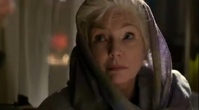 Defiance former mayor Nicky Riordon Fionnula Flanagan conspiracy conspirator secret meeting screncaps hood head scarf
