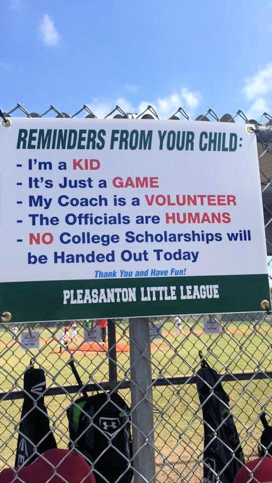 A Reminder as Little League Season Approaches