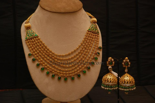 22 Carat Indian Gold Bridal Jewellery DesignsTraditional jewellery