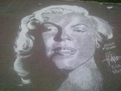 rustam valeev - street pavement art - painting of a street