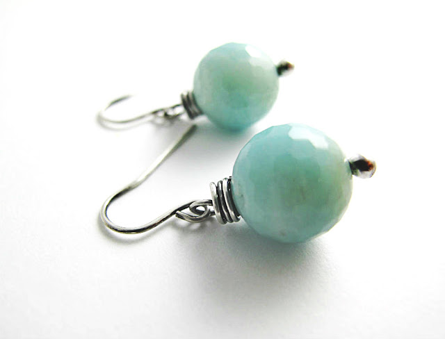 Happy Fate Amazonite Sterling Silver Earrings by Beth Hemmila of Hint Jewelry