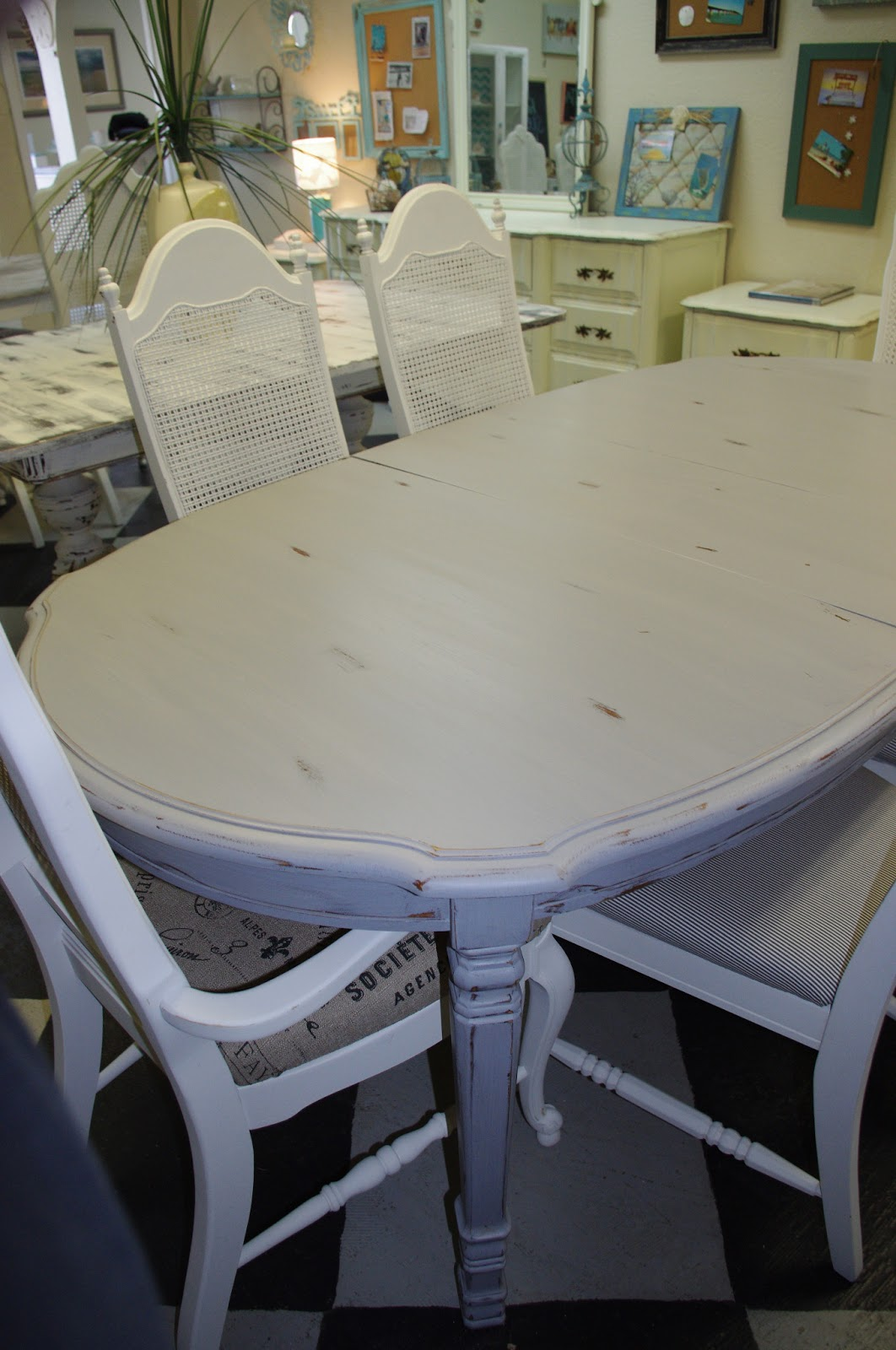 coastal chic boutique distressed gray dining table sold