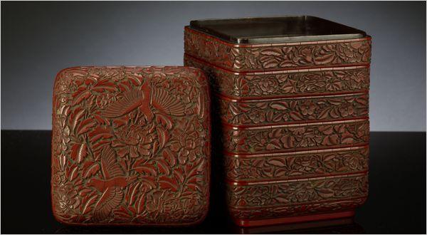 Yuan lacquer boxes