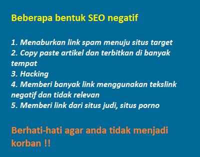 apa itu SEO negatif dan bagaimana melindungi website dari seo negatif