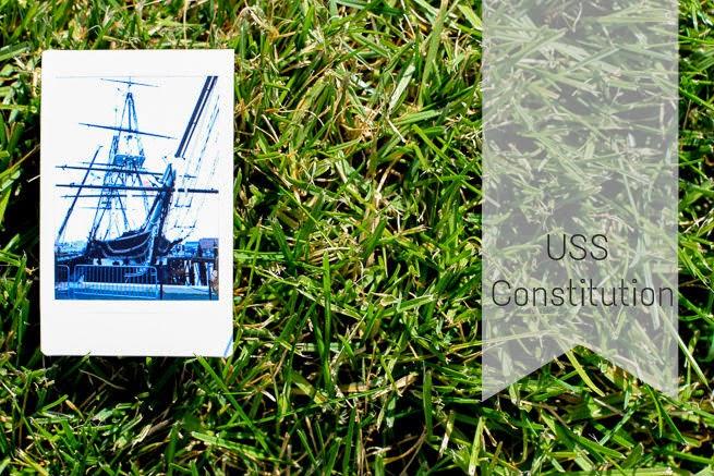 USS Constitution via Fujfilm Instax Polaroid