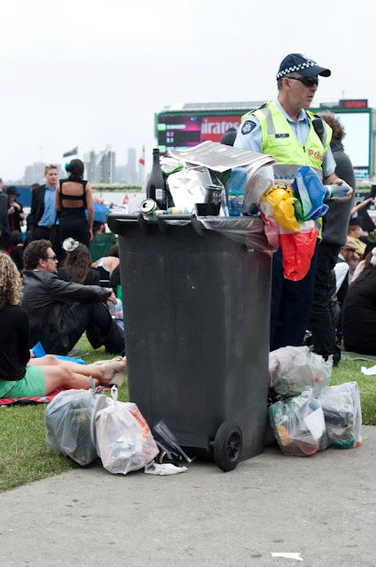 Tim macauley, timothy macauley, melbourne cup, cup, Melbourne, horse race, art, fine art, series, photograph, photography, bin, rubbish, garbage, you won't see this at moma, moma, overflow, overflowing, environment, environmental, trash, australia
