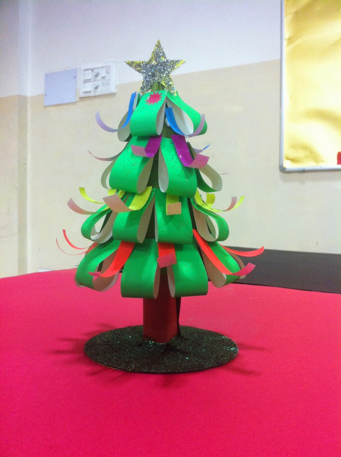 Art craft ideas and bulletin boards for elementary for Christmas tree arts and crafts
