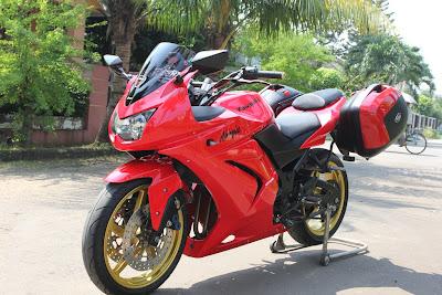 Ninja 250 touring modifikasi
