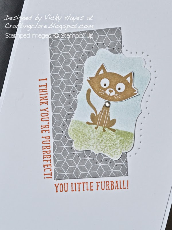 How to use in-colour Tangelo Twist as an accent colour with UK Stampin' Up demonstrator Vicky Hayes