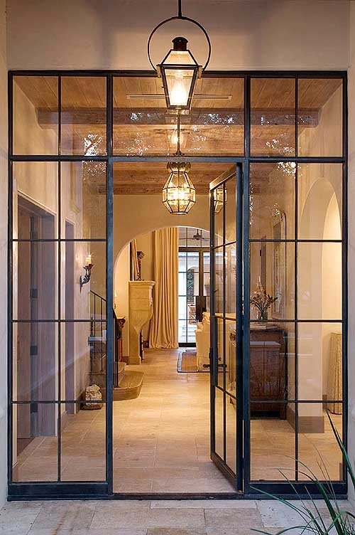 The peak of tr s chic needing wanting loving steel windows for Office glass door entrance designs