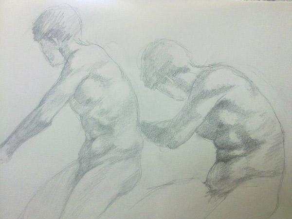 dibujo de desnudo masculino