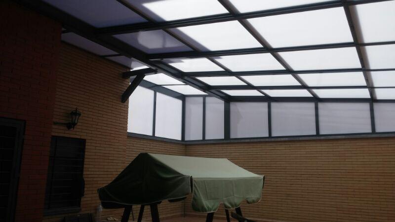 cerramiento de terraza con techo mvil de en almera trabajo realizado por alumavel