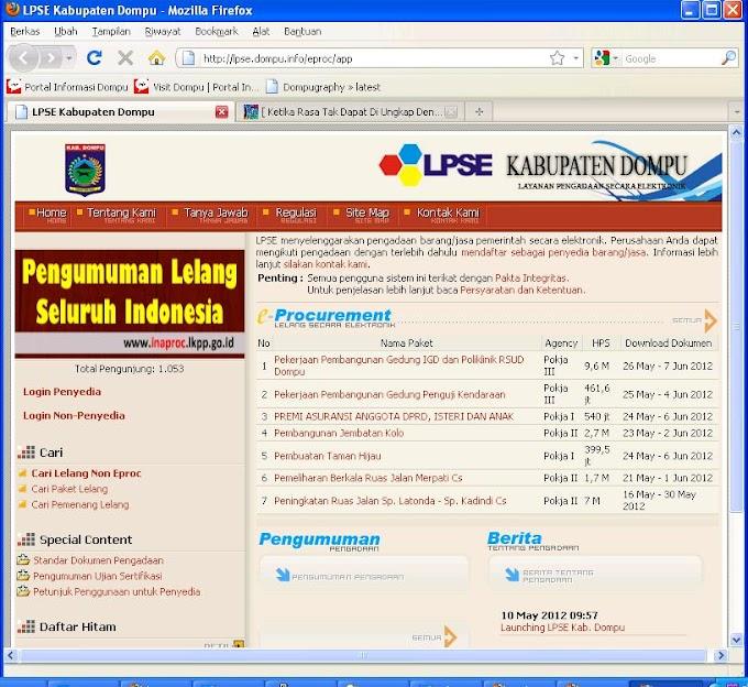 Alamat URL LPSE di Nusa Tenggara Barat