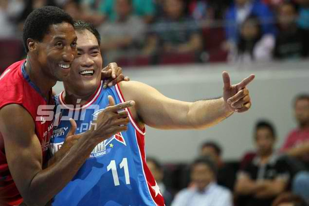 Scottie Pippen and Nelson Asaytono