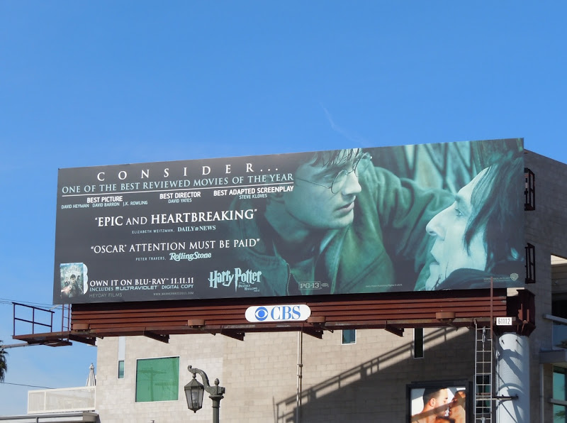 Harry Potter Oscar Consideration billboard 2011