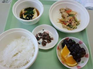 写真:パルス入院2クール7日目の昼食