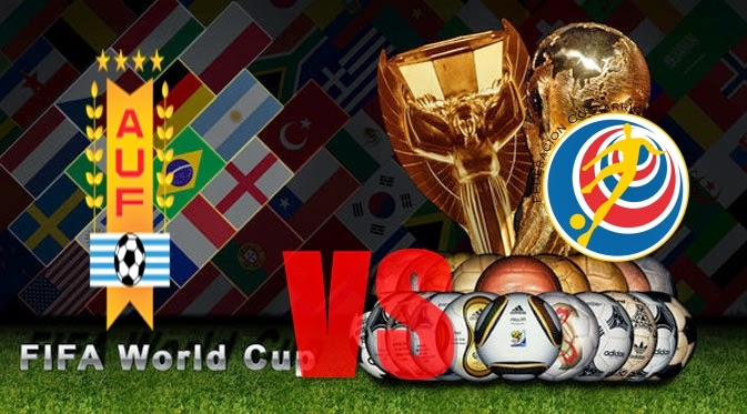 Prediksi Skor PIALA DUNIA  Paling Jitu Uruguay vs Kosta Rika Jadwal 15 Juni 2014