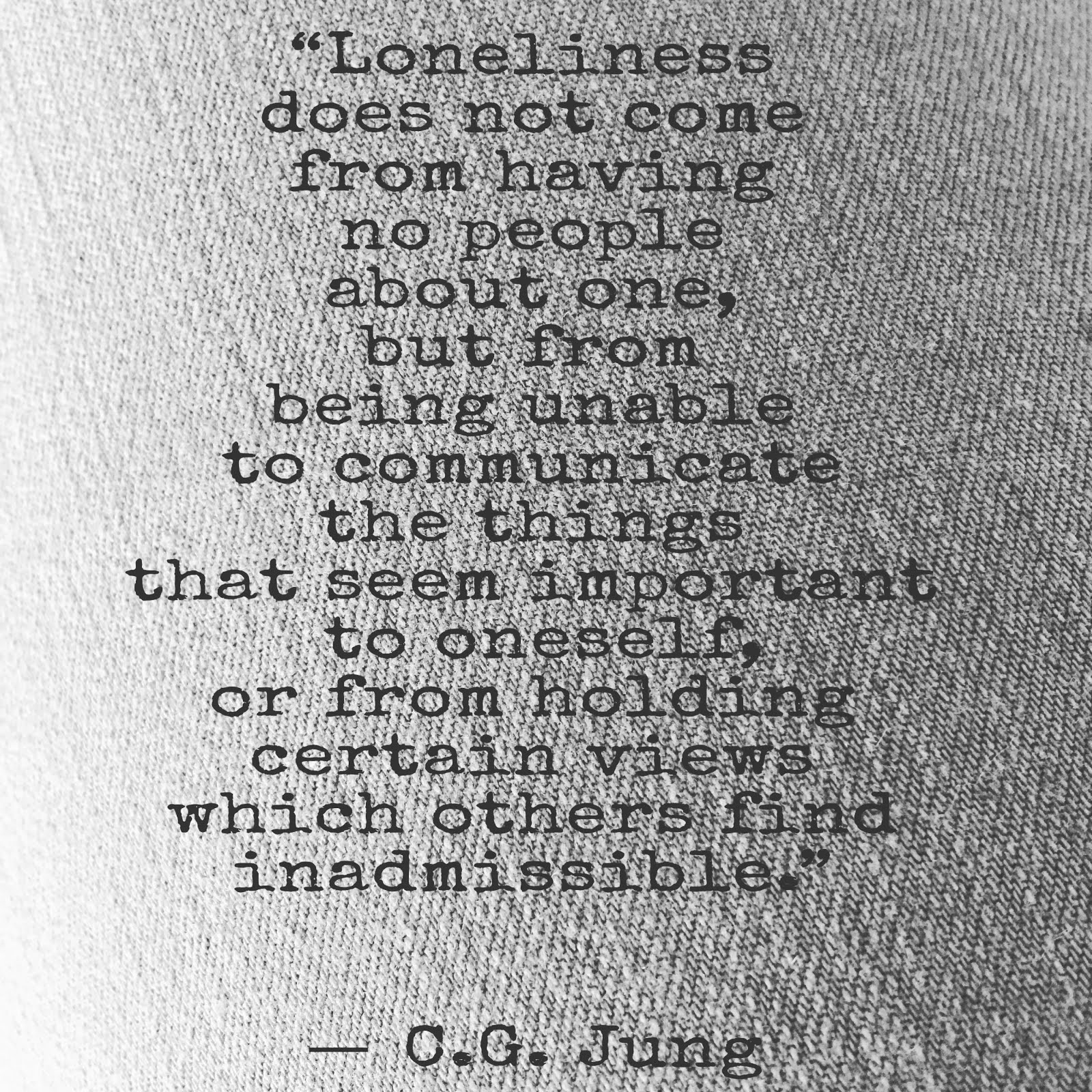 About Loneliness