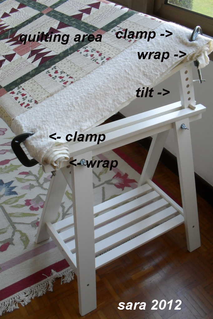 Celebrate Hand Quilting: DIY a (inexpensive) home hand quilting floor frame