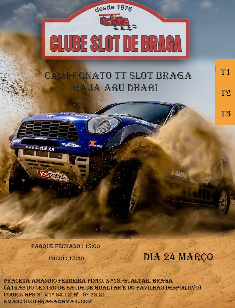 3.ª Prova do Campeonato TT Slot Braga 2018
