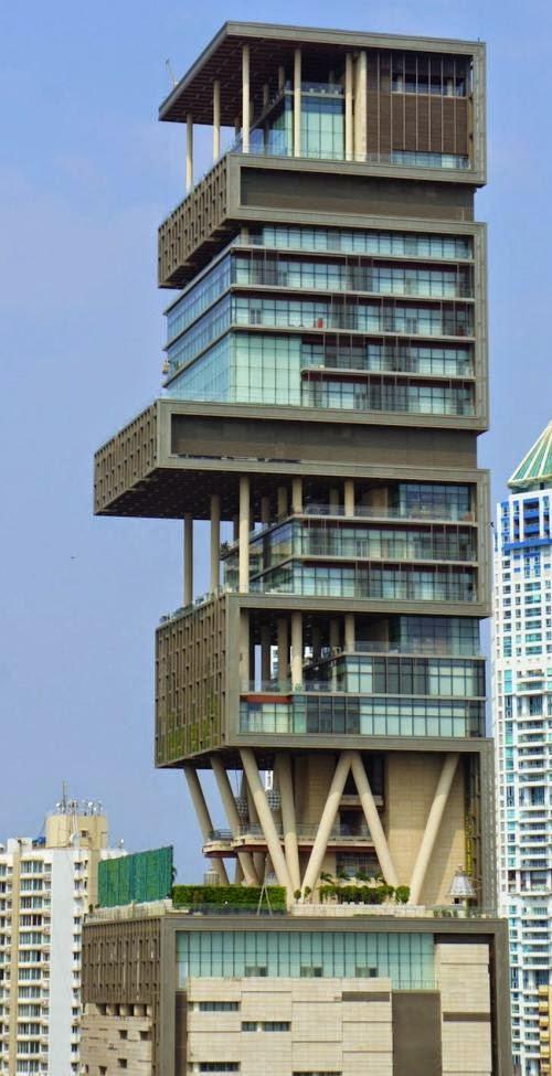 The Green Skyscraper Antilia Civil Updates Civil