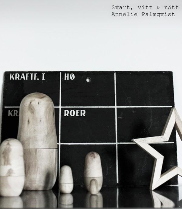 kotavla, susan cedgård, trären stjärna, ryska dockor, trärena ryska dockor, hylla i köket, detaljer, details, vitt, svart, inspiration,