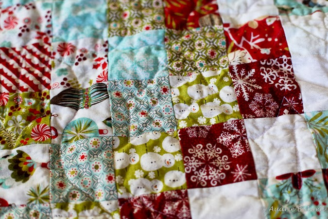 Blue Is Bleu Christmas Scrappy Trip Around The World Quilt