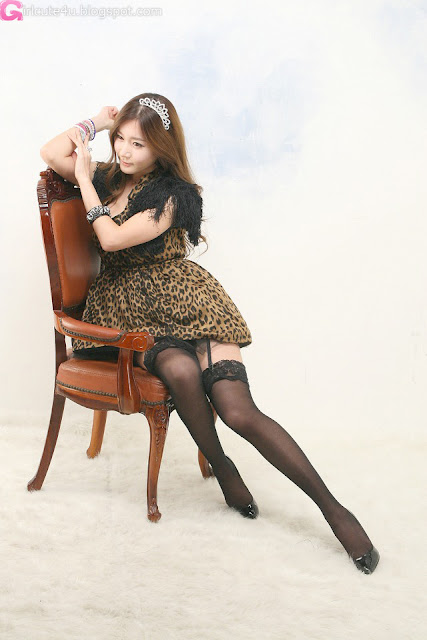 2 Leopard girl - Han Ji Eun-Very cute asian girl - girlcute4u.blogspot.com
