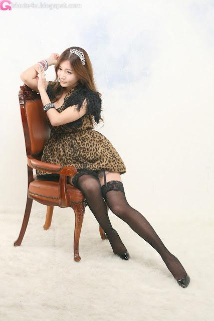 2 Leopard girl - Han Ji Eun-Very cute asian girl - girlcute4u.blogspot.com