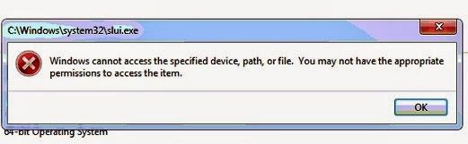 kesalahan user.exe