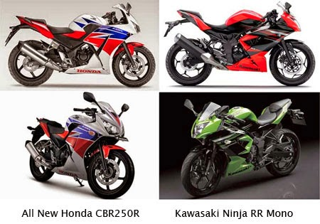 Adu Kecepatan Ninja RR Mono vs All New CBR 250R