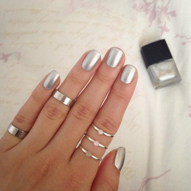 Love From Lisa Nails | Metallic Silver
