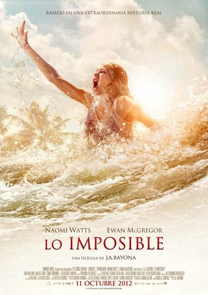 Poster Lo imposible 2012