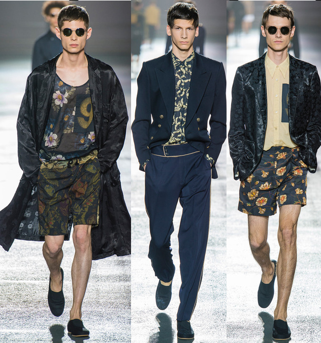 dries van noten mens spring 2014 floral print collection